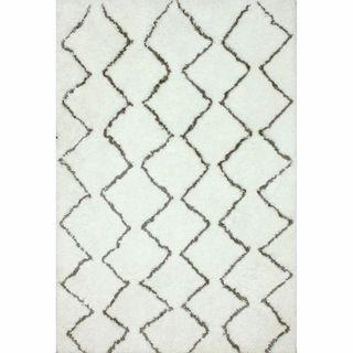 nuLOOM Handmade Moroccan Trellis Shag Rug 8 x 10