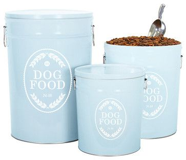 Farmhouse Pet Food Canister Traditional Food Containers And