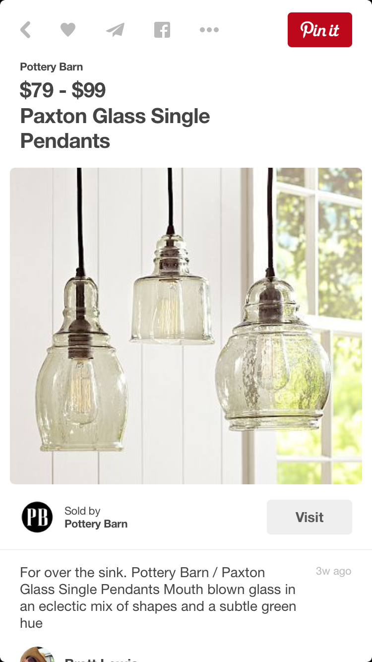 Sink lighting kitchen lighting pinterest sinks lights and