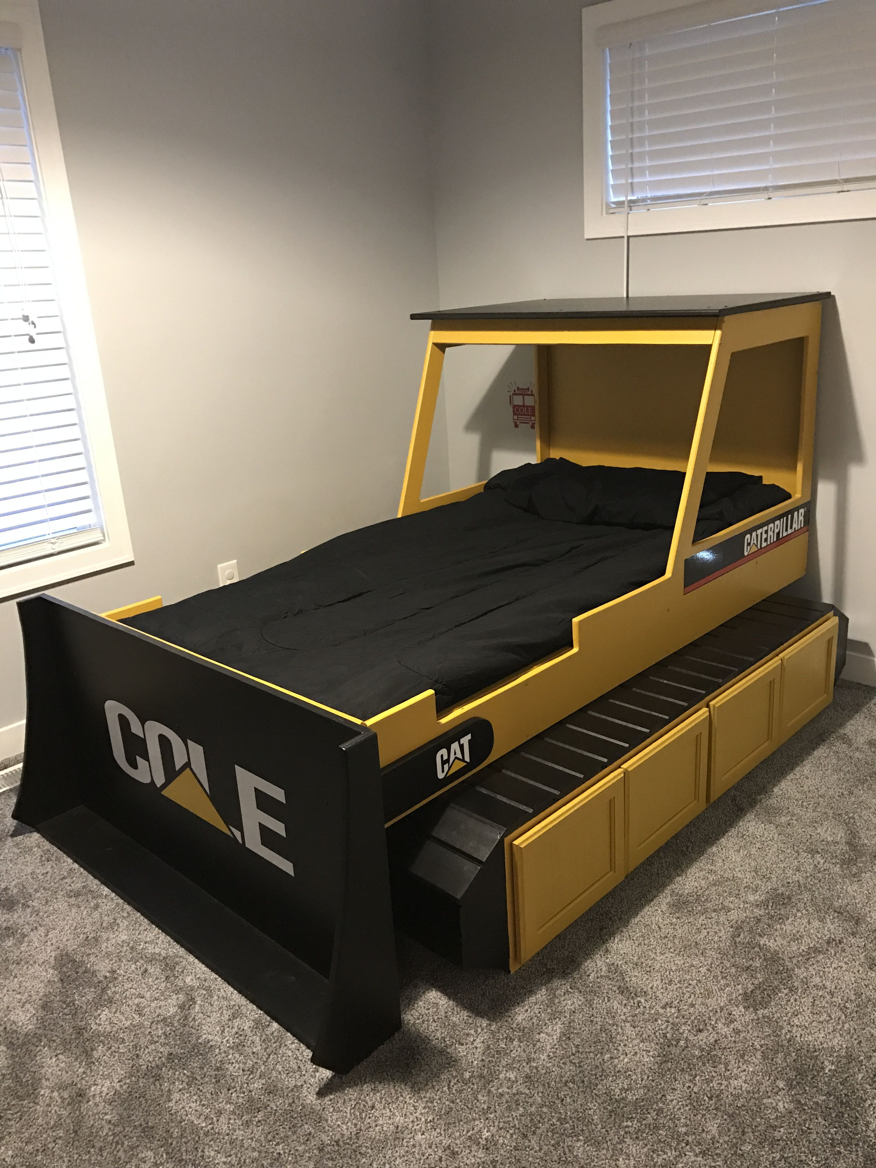 Custom Bulldozer Bed Toddler To Twin Convertible by ...