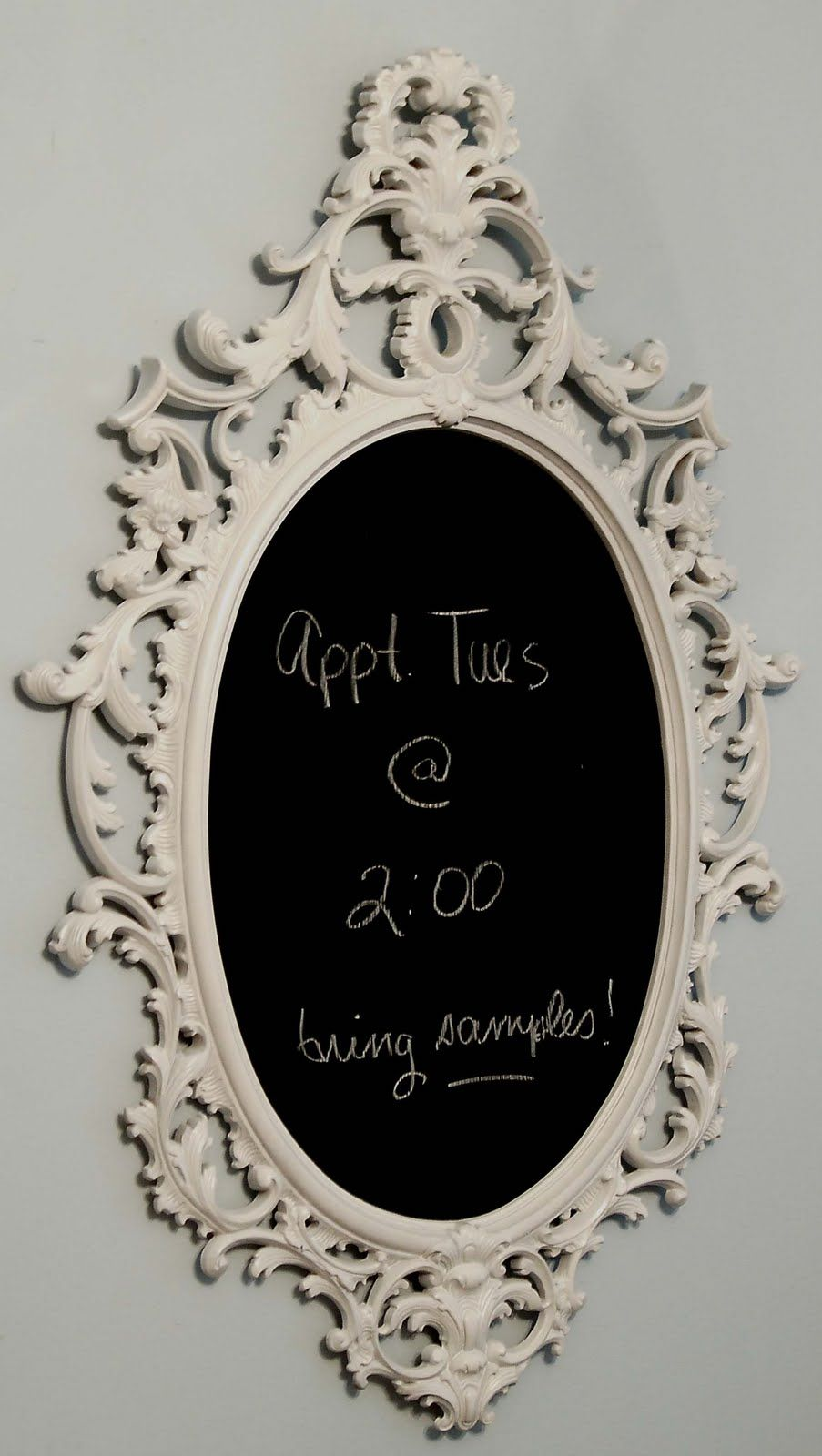 Turn any old frame into a chalkboard! Paint the frame whatever color ...