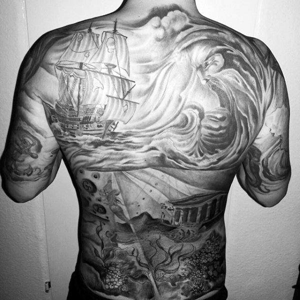80 Water Tattoos For Men Masculine Liquid Designs Back Tattoo Underwater Tattoo Tattoos For Guys