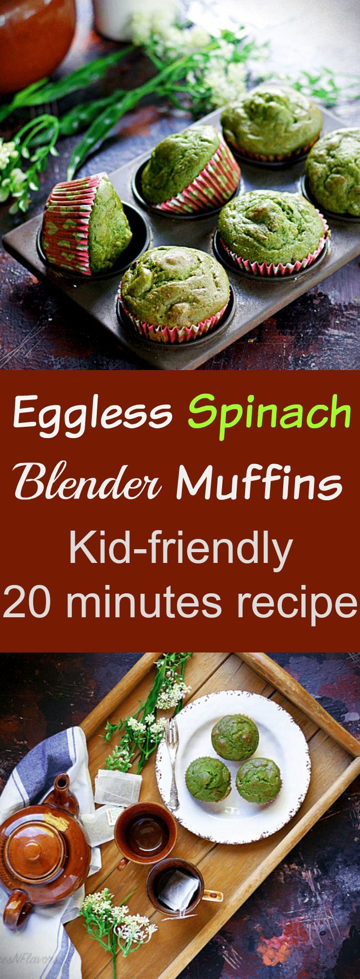 Eggless Spinach Muffins - Kid-friendly Recipe - Spices N Flavors