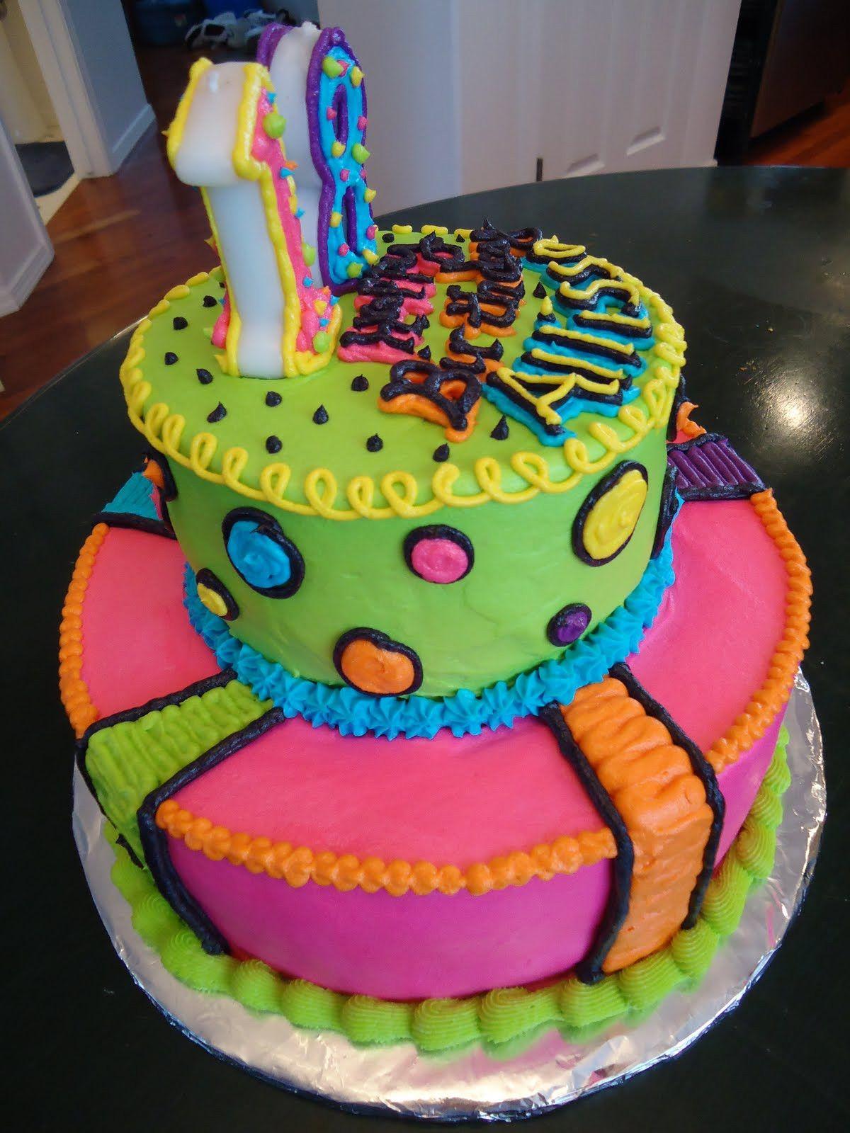 Fine Neon Lights Bright Bright Bright Top 20 Neon Birthday Cakes Birthday Cards Printable Riciscafe Filternl