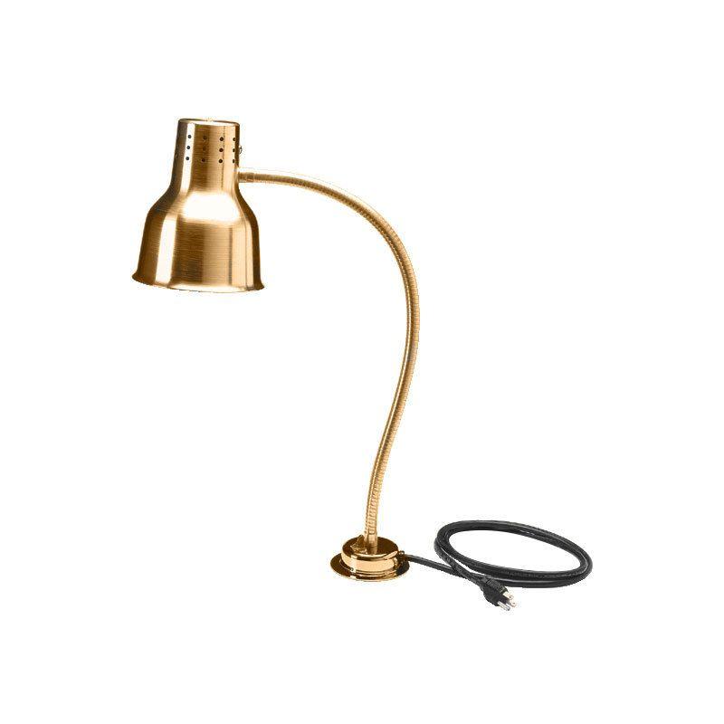 Carlisle Hl8185g00 Flexiglow 24 Single Arm Aluminum Heat Lamp With Gold Finish 120v Heat Lamps Lamp Carving Station