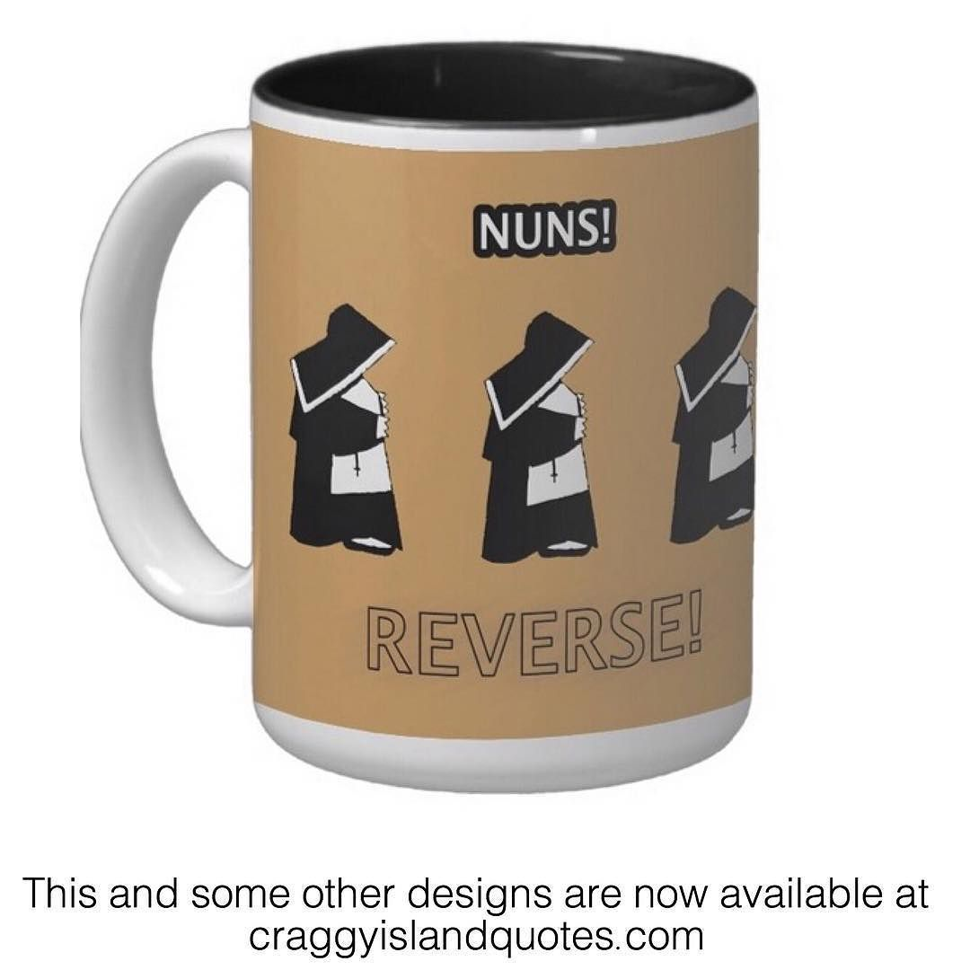 Reverse Faster! There was interest in the mugs last week so I went all out and opened a shop! Limited designs but a range of products including t-shirts mugs posters playing card etc. Take a look at craggyislandquotes.com and let me know what you think.