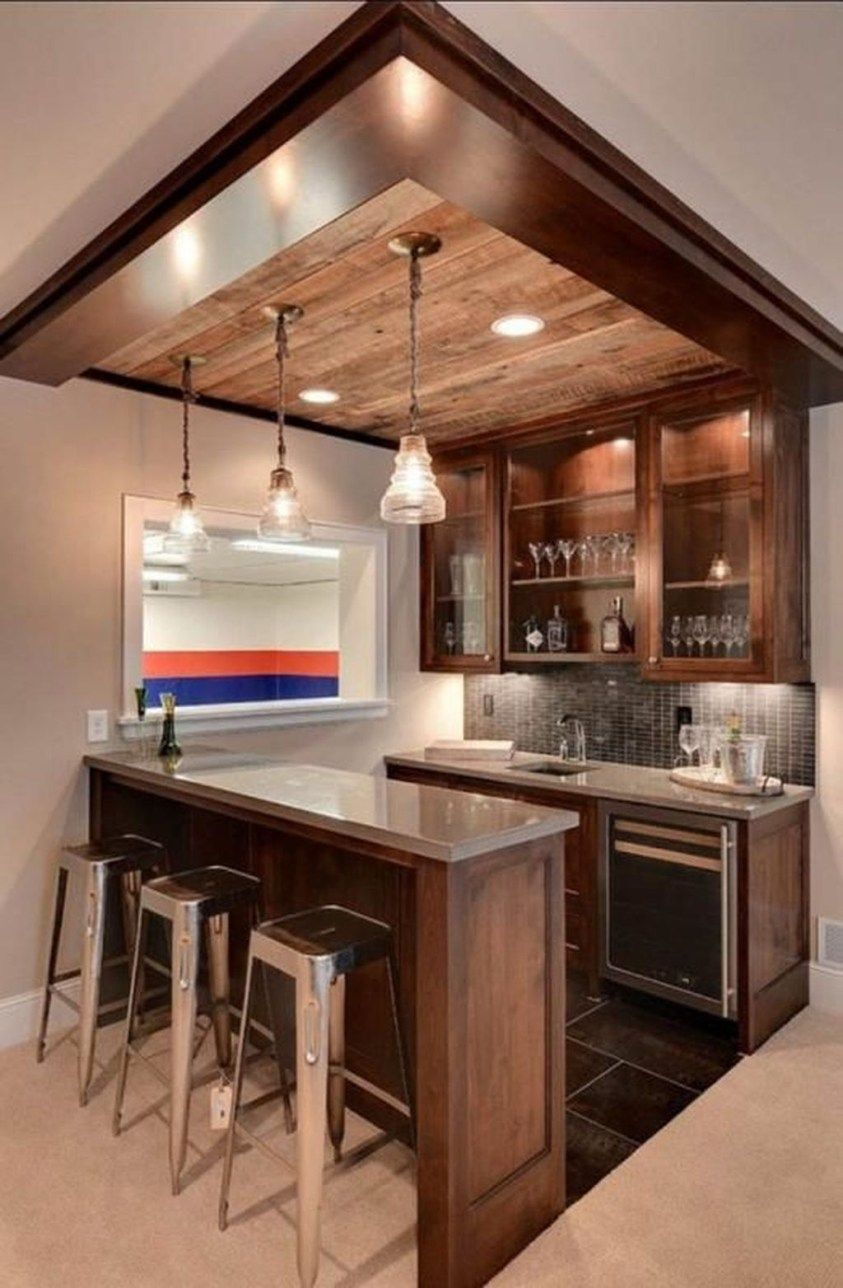 48 Lovely Small Kitchen Bar Design Ideas For Apartment