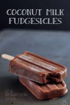 #coconutmilkfudgesicles #food #coconutmilk #coconut #recipes #fudge #icecream #dessert