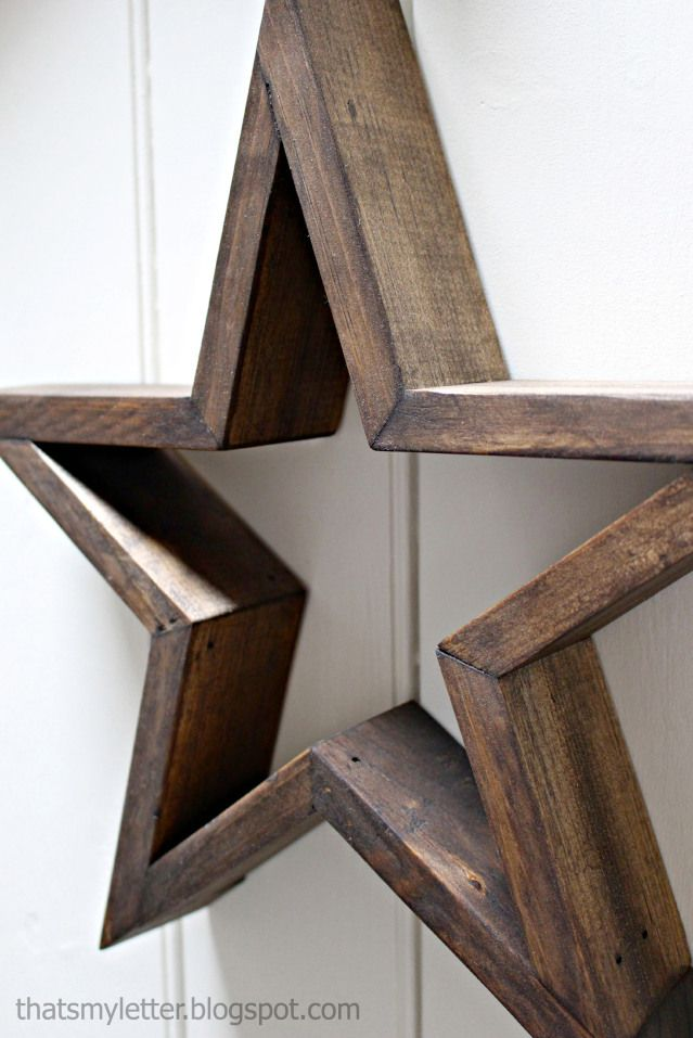 Diy Wooden Star Free Plans Rogue Engineer Wooden Stars Wood Stars Wooden Diy