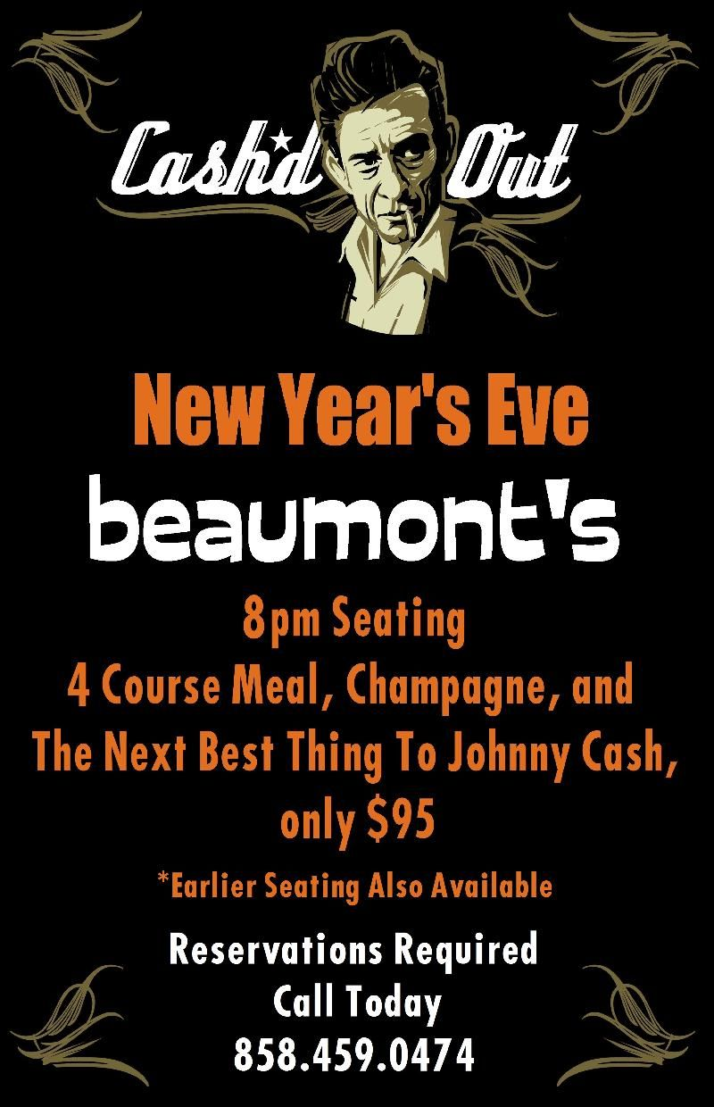 Fabulous New Year's Eve Dinner & Party planned at Beaumont