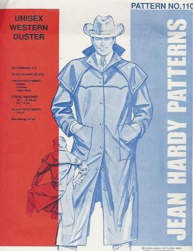 JY110 Western Cowboy Duster Pattern for Men and by patternsoftime ...