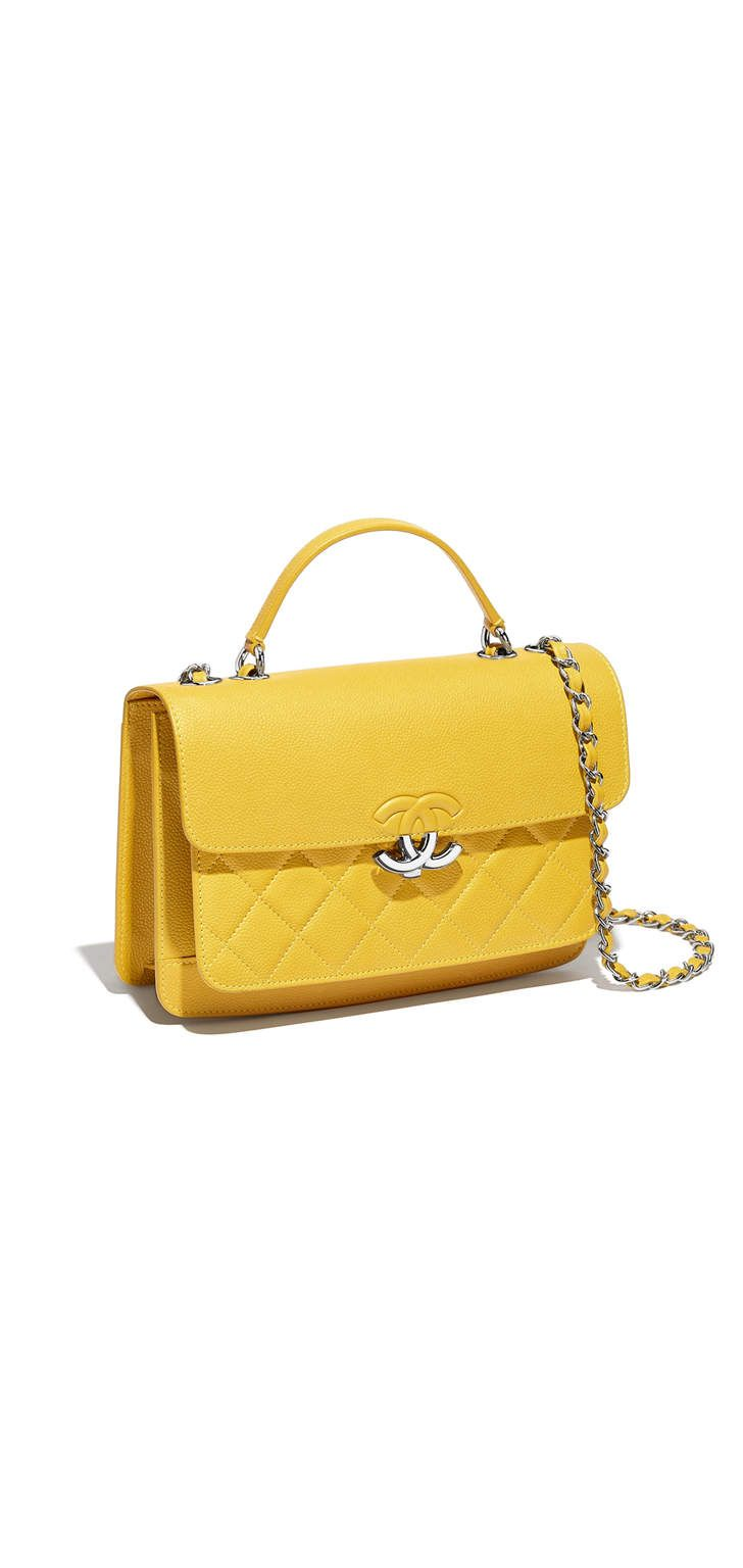 d5594354b096 Spring-Summer 2017 - grained calfskin yellow chanel | Chanel bags ...