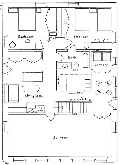 Simple barn house floor plan new house pinterest for Simple barn home plans