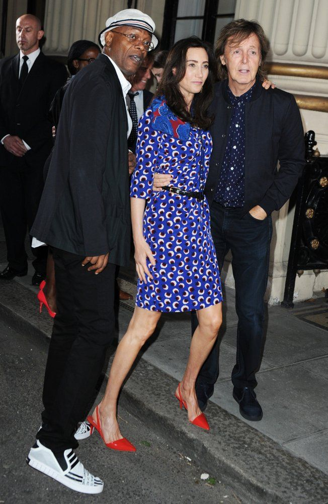 Paul McCartney Samuel L Jackson Nancy Shevell London Fashion Week Spring