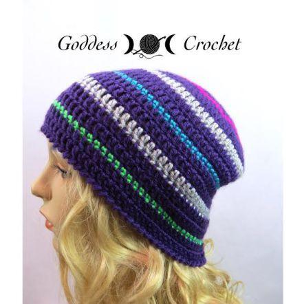 8b139fe4cdb Free Crochet Pattern - Thick and Thin Striped Beanie