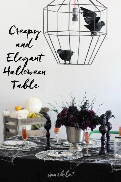 Creepy and Elegant Halloween Table Halloween table settings - elegant halloween decorations
