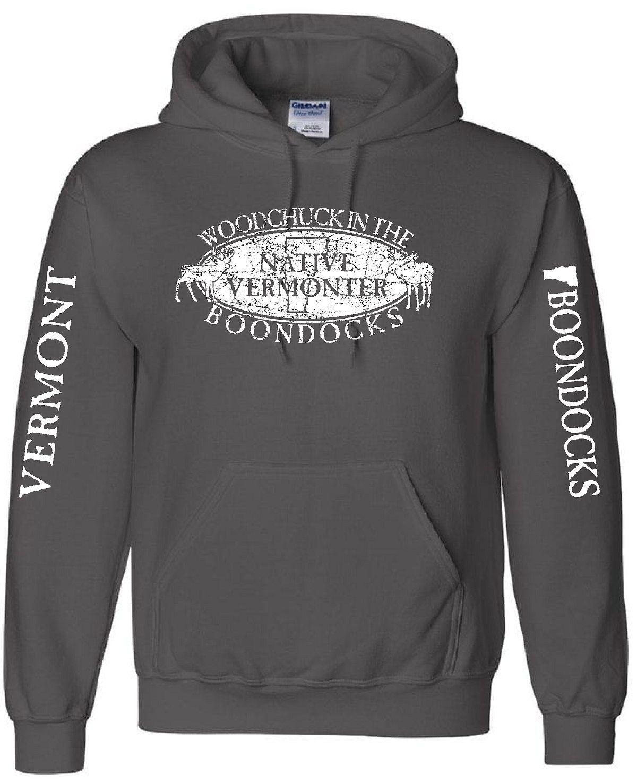 I Love Heart Woodchucks Black Sweatshirt