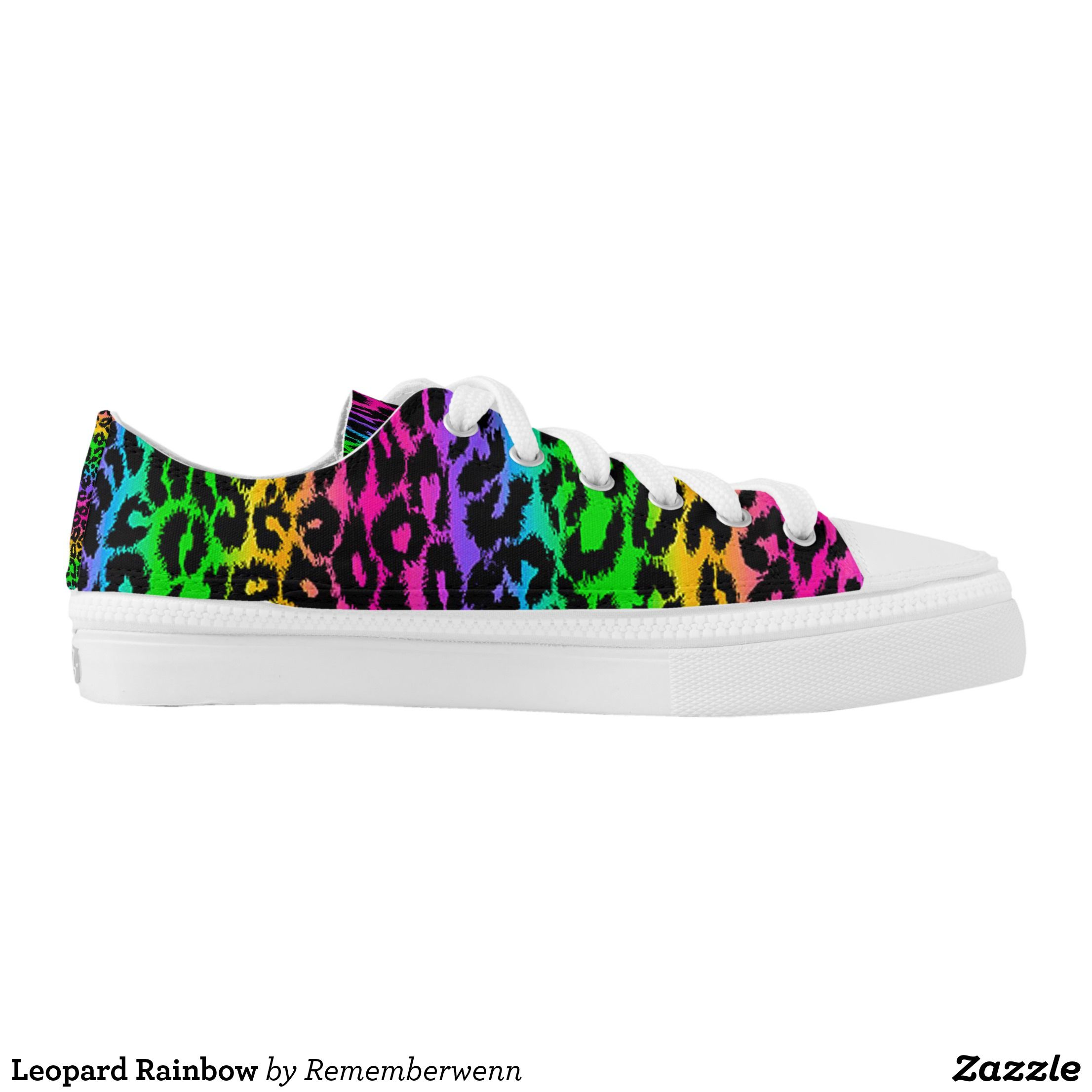 e1903f512534 Leopard Rainbow Low-Top Sneakers - Canvas-Top Rubber-Sole Athletic Shoes By  Talented Fashion And Graphic Designers - #shoes #sneakers #footwear  #mensfashion ...