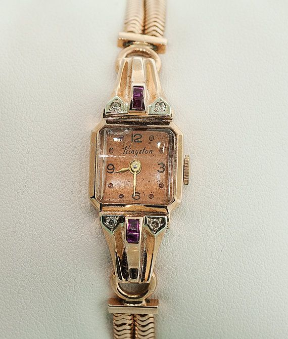 1af555a0aa8 Vintage Ladies Kingston Vintage Bracelet Watch by SITFineJewelry, $3400.00