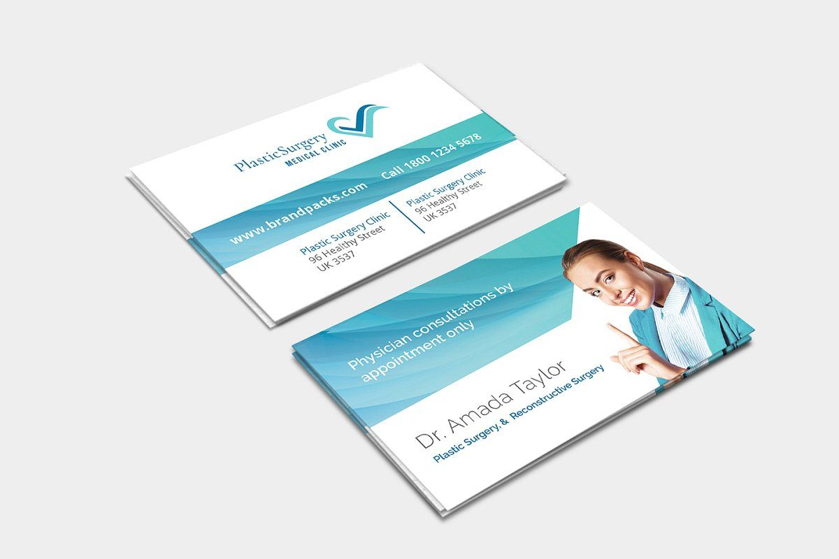 Plastic Surgery Business Card in 2020 Plastic surgery