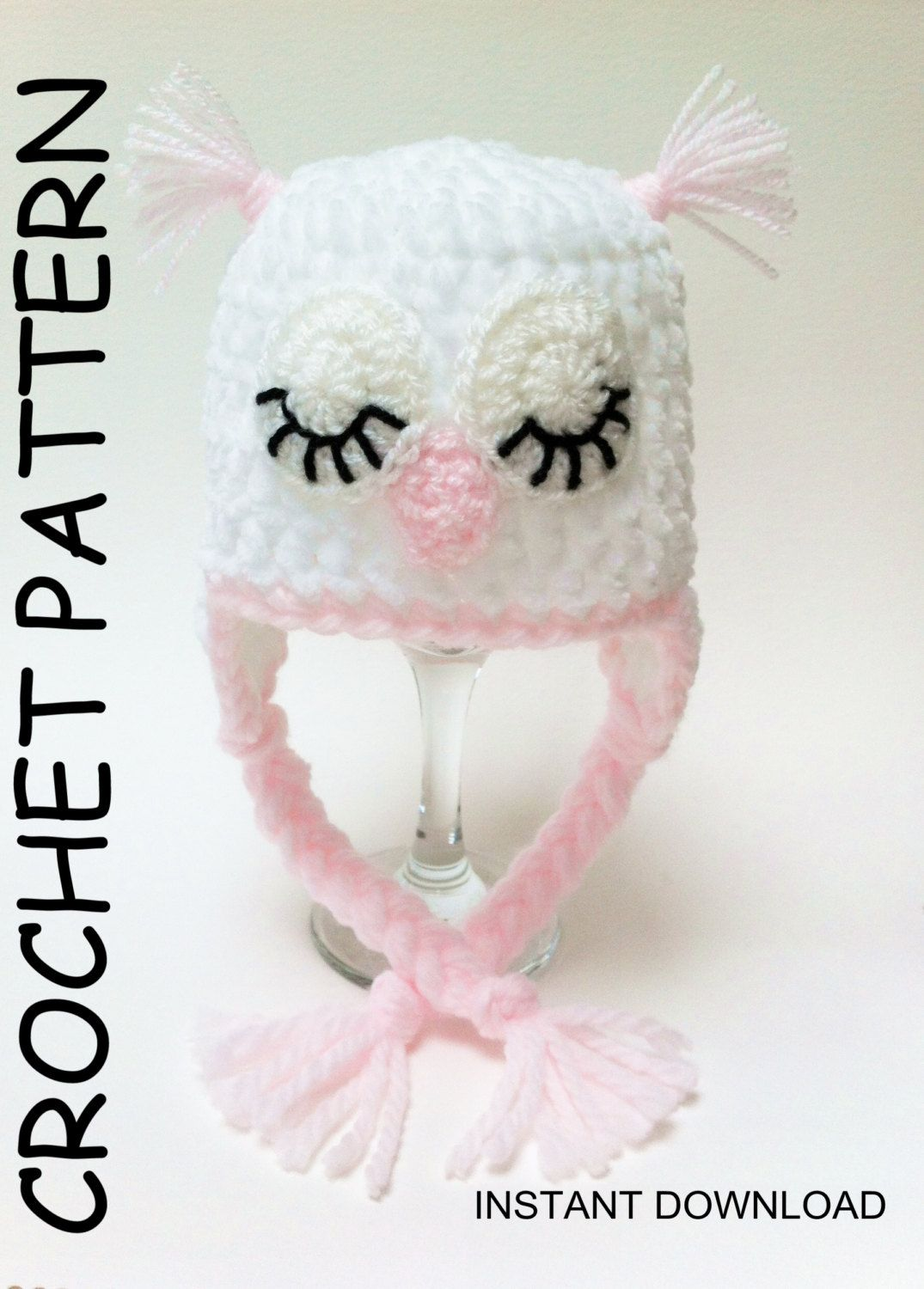OWL HAT PATTERN, Baby Owl hat pattern Crochet Owl Hat Pattern, Hat ...