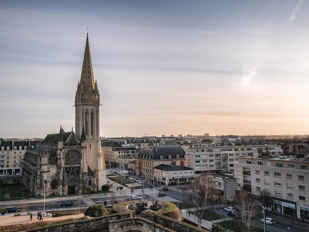 View From The Castle On The Church Of Saint Pierre In Caen Caen Travelmoments Caencentreville France Focus On Travel Moments Travel Photographer Travel