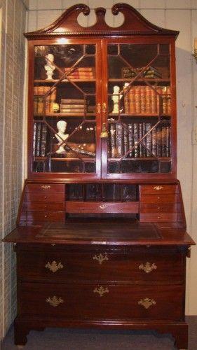 Antique Secretary Desk Ideal Home Office Perfect Place