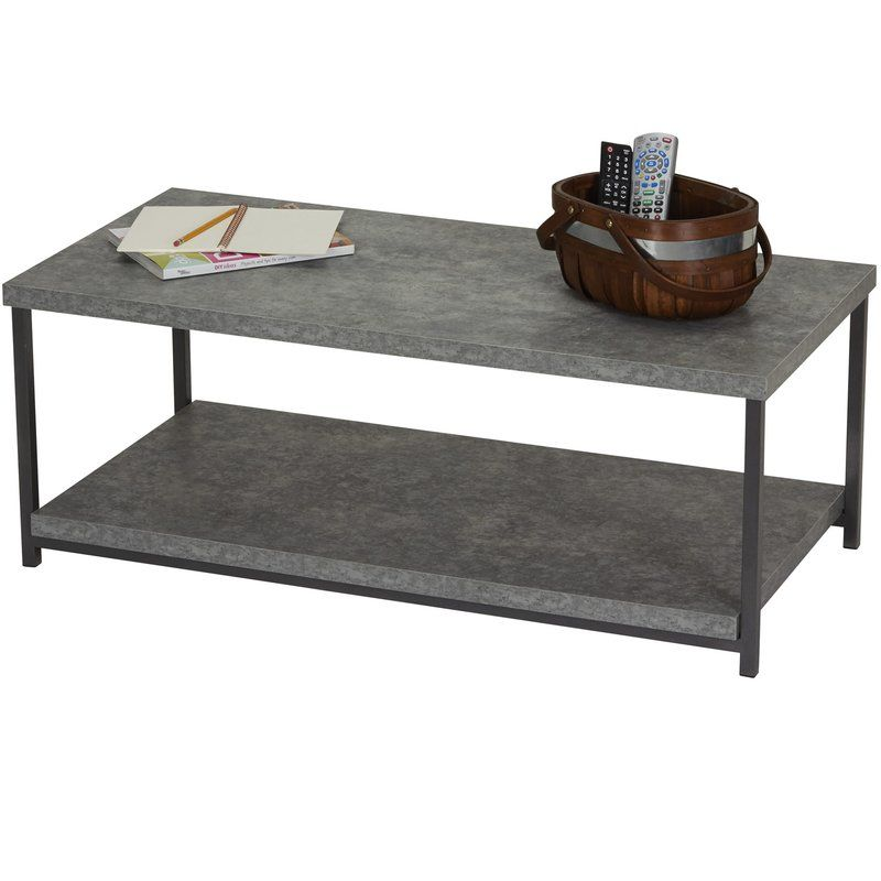 Vlad Slate Faux Concrete Coffee Table Coffee Table Concrete Coffee Table Cool Coffee Tables