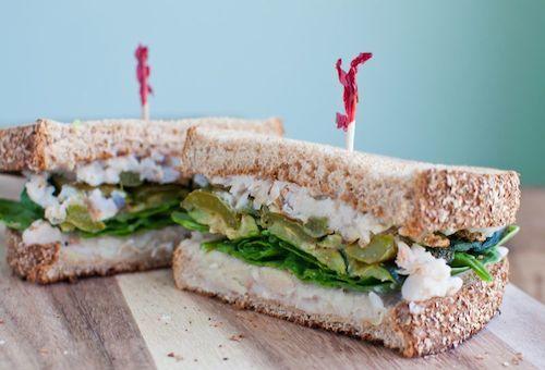 Roasted Vegetable & White Bean Dip Sandwich