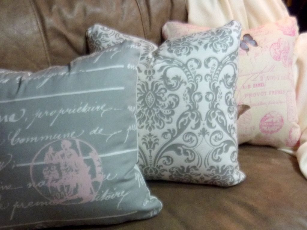 Premier Prints Penmanship Pillow Cover by JulieButlerCreations, $30.00