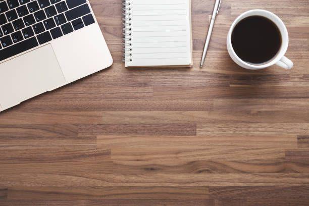 Office Wood Desk Background Wood Desk Office Desk Wood