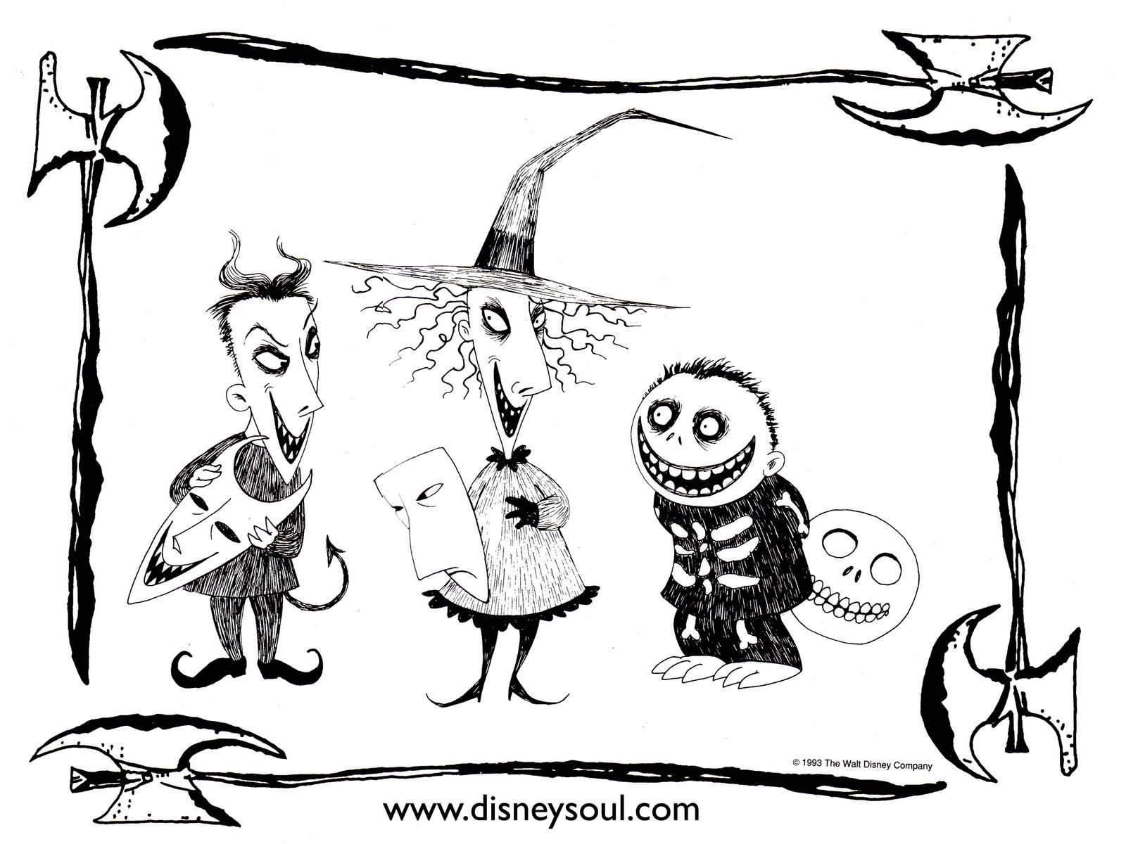 nightmare before christmas coloring pages halloween pinterest