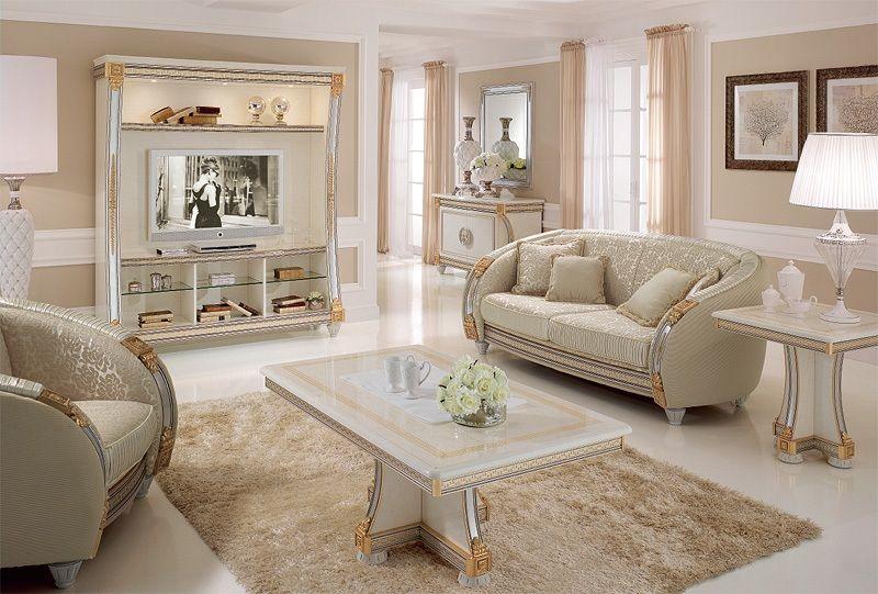 Mobile classico di lusso liberty parete tv staging for Interior design italiani