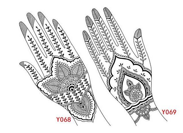 4pcs India Henna Tattoo Stencil Tattoo Template Henna Tattoo