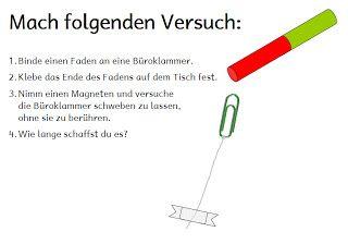 Magnetismus Grundschule Arbeitsblatt | 1.Schuljahr | Pinterest ...
