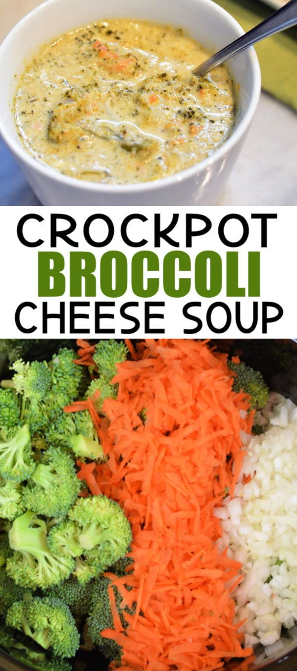 Crockpot Broccoli Cheese Soup #crockpotmeals