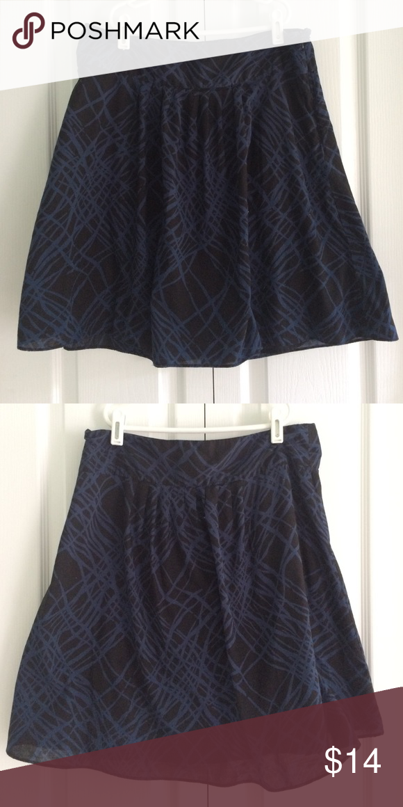 blue & black skirt Gently worn Mossimo Supply Co Skirts