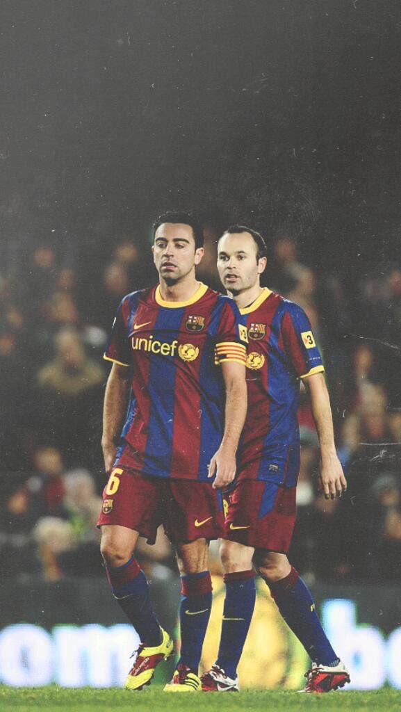 Xavi Et Iniesta Carteles De Futbol Futbol De Barcelona Fotos De Futbol