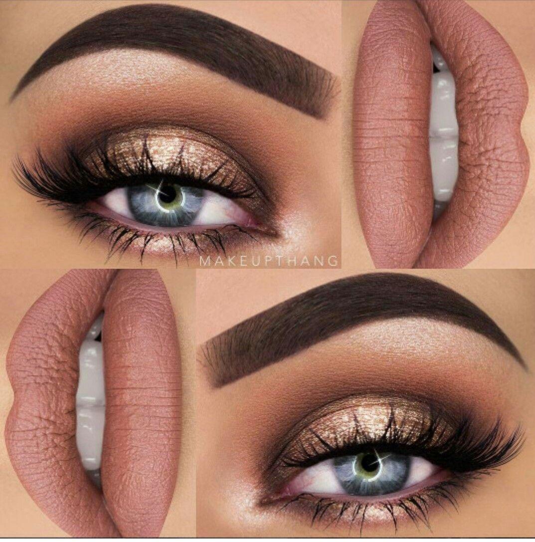 Eyes mouth make-up eyeshadow  Eye makeup, Neutral smokey eye