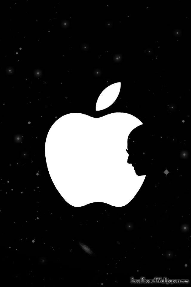 Steve Jobs Silhouette In Apple Logo Apple Logo Steve Jobs Apple