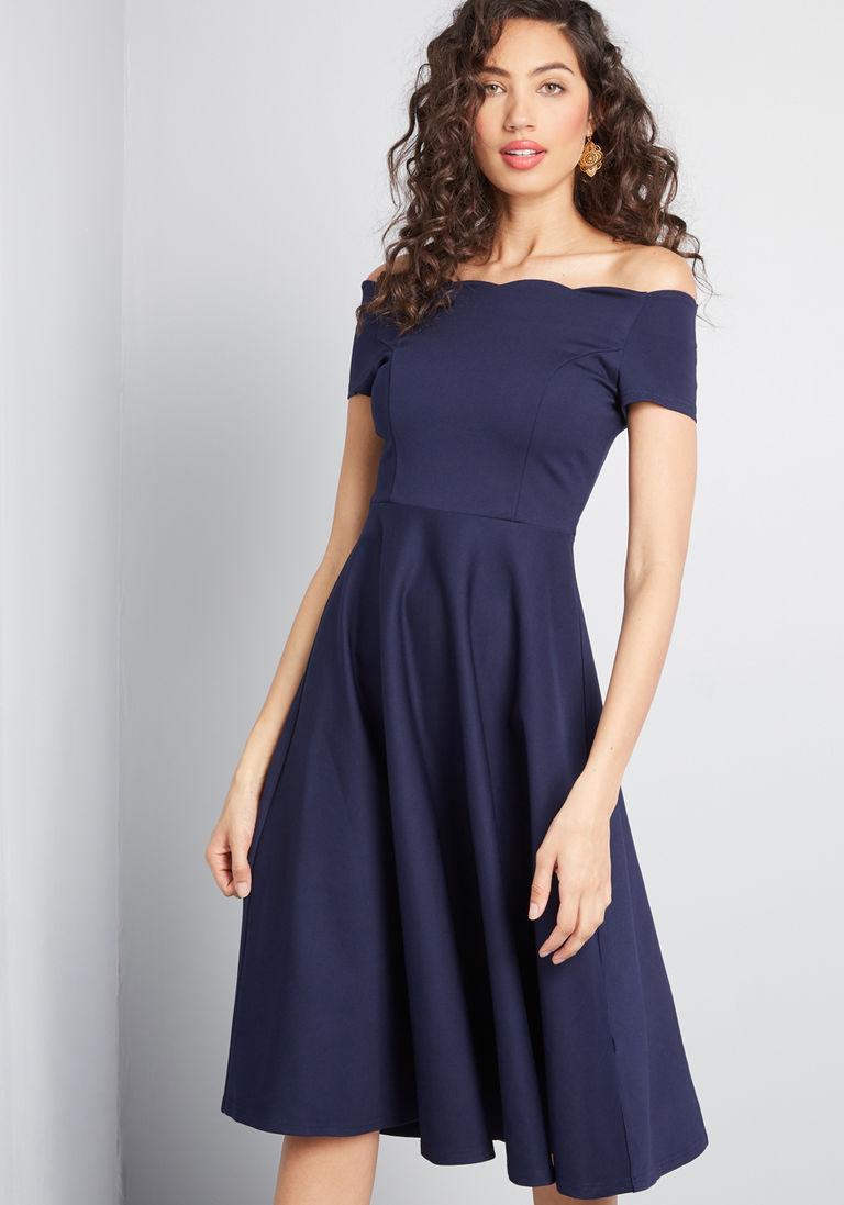 befbd8c21fb Timeless Favorite Off-Shoulder Dress in M - Short Sleeve Fit & Flare ...