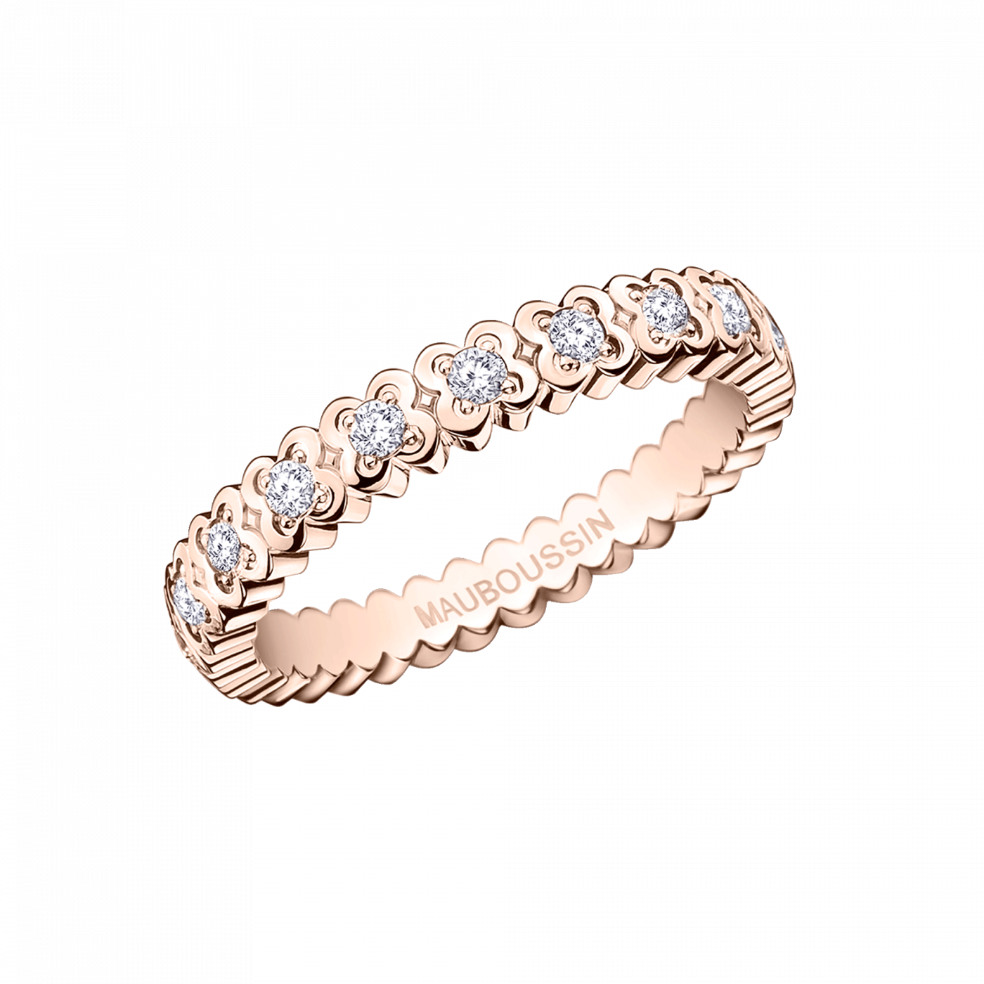 #Mauboussin #Bague #Alliance #Weddingband #diamants #Bridal #Rosegold