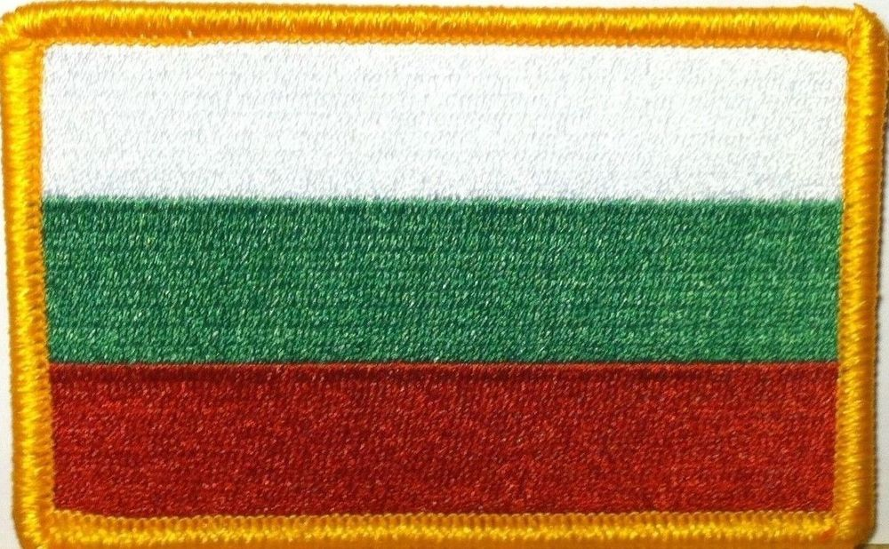 bulgaria FLAG PATCH BADGE IRON ON EMBROIDERED