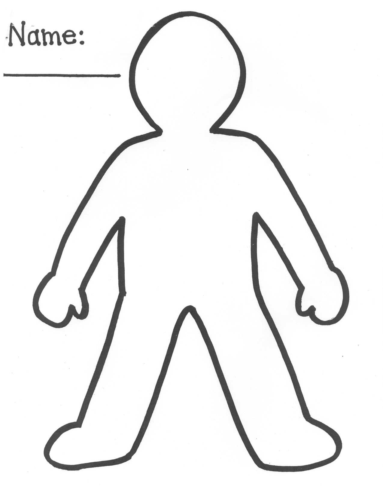 Person Cut Out Template
