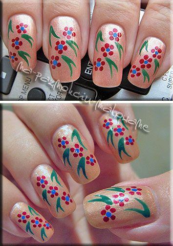 Kwiatki Zdobienie Paznokci Naturalnych Nails Inspiration Womens Flip Flop Nails