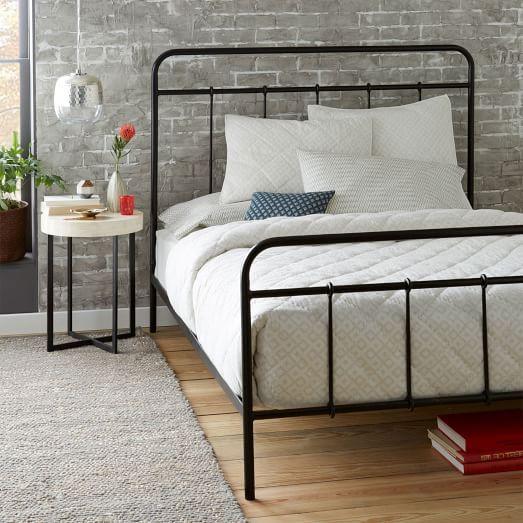 Imogene Metal Bed Gunmetal Metal Beds Iron Bed West Elm Bedding