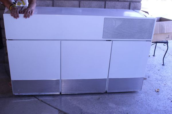 1950's GE Hanging Wall Refrigerator and Freezer (With