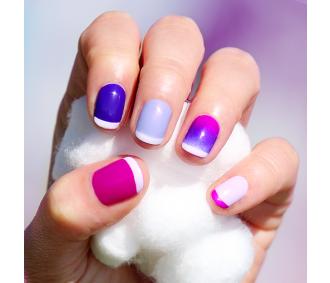 Va Va Violet nail kit Colors: Color Club Mrs. Robinson, Color Club Disco Dress, Essie She's Picture Perfect, Essie Go Ginza.