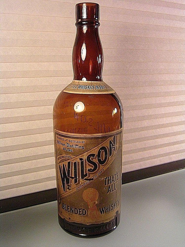 vintage wilson s blended whiskey half gallon bottle w labesl empty