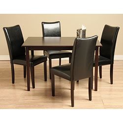 Shino Black 5 Piece Dining Room Furniture Set By Warehouse Of Tiffany